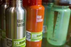Klean Kanteen & Nalgene some of the best water bottles out there and reusable so great for the environment!