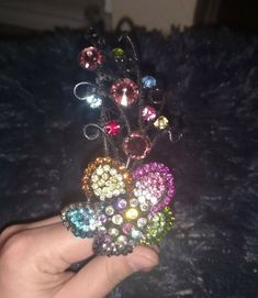 FLORAL MULTI-COLORED GLASS STONE HEADBAND  fashion  clothing  shoes   accessories  womensaccessories  hairaccessories (ebay link) 207113f20615