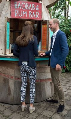 Prince William and Kate Middleton sampling a baobab drink on their Cornwall and Isles of Scilly trip Sep 2-16