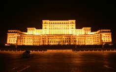 The most beautiful pictures of Romania: People's House (Palace of Parliament), Bucharest is the second largest building in the world Paranormal, Cool Places To Visit, Places To Travel, Palace Of The Parliament, Romania People, Bucharest Romania, Famous Buildings, Largest Countries, Most Beautiful Pictures
