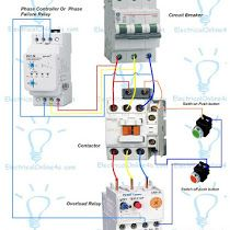 Contactor Wiring Guide For 3 Phase Motor With Circuit Breaker Overload Relay Nc No Switches Electrical O Electrical Circuit Diagram Circuit Diagram Circuit