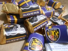 Ravens custom candy wrappers