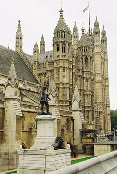 The Houses of Parliament, London (the most beautifully detailed and stunning piece of Gothic architecture I've ever laid eyes on.)