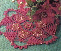 free crochet star pineapple doily pattern
