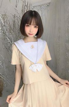 School Uniform Girls, High School Girls, School Uniforms, Cute Asian Girls, Pretty Girls, Cute Girls, Cute Japanese Girl, Kawaii Girl, Wedding Dresses