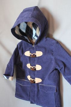 Made to Order: Children's Hooded Duffle Coat - Size 7-12 - Handmade Finished Coat from Downton Duffle Pattern, Sizes 7-12