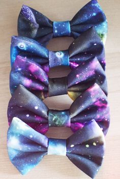 Galaxy+Interstellar+Outer+Space+Hair+Bow+/+Bow+by+littlehoneypies