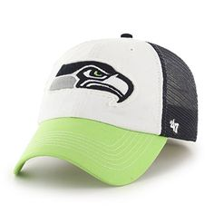 8fe1e2b1943e3 NFL Seattle Seahawks Embroidered Cotton Twill Mesh Stretch Fit Cap by 47      Want to know more