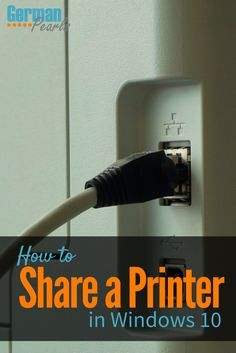 How to Share a Printer in Windows 10 |  How to share a USB printer on a network | Windows 10 printer and network sharing via @GermanPearls