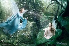 Julie Andrews as the Blue Fairy from Pinocchio and Abigial Breslin as Fira from Disney Fairies