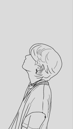 Outline Art, Outline Drawings, Art Drawings Sketches Simple, Kpop Drawings, Applis Photo, Google, Painting, Random Doodles, Doodle Art