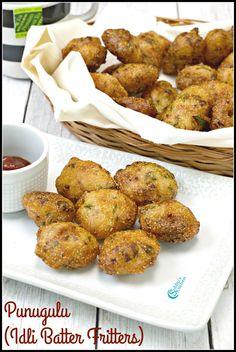 Punugulu | Idli Batter Fritters Recipe