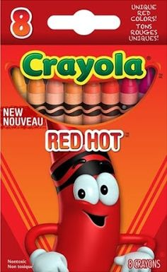 New for 2013 - The Crayola Tip Color Collection Set Easy Arts And Crafts, Fun Crafts For Kids, Red Orange Color, School Stationery, Diy Supplies, Craft Items, Colored Pencils, Crayola Products, Red Crayon