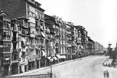 La Ribera y el muelle de Santander, en 1876.