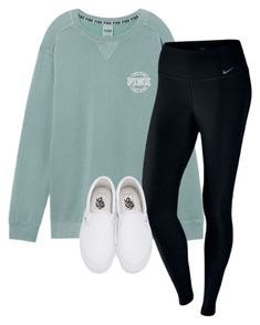 """Untitled #135"" by lhnlila on Polyvore featuring Victoria's Secret, NIKE and Vans"