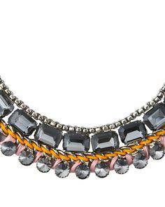 The Smoky Blaze Necklace by JewelMint.com, $36.00