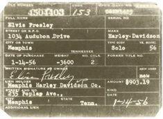 Elvis Presley Motorcycle License.....<3