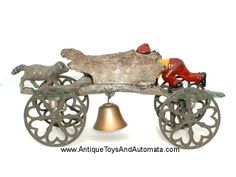 Gong Bell Mfg. Two Coons Bell Toy. Early toy. Sold by Antique Toys And Automata  http://www.antiquetoysandautomata.com/