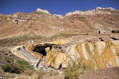 The Inca's Bridge, as it translates from Spanish, is an arch created by nature to form a bridge over the Vacas River in Mendoza, Argentina.