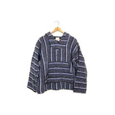 Drug Rug Hoodie 90s Knit Pullover Mexican Jacket Purple Hooded... ($35) ❤ liked on Polyvore featuring tops, hoodies, hooded pullover, vintage hoodies, hippie hoodies, vintage hooded sweatshirt and boho hoodie