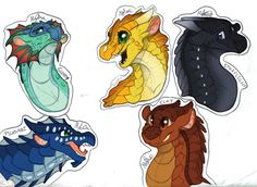 Five eggs to hatch on brightest night, Five dragons born to end the fight. Darkness will rise to bring the light. The dragonets are coming.... Characters; top to bottom, left to right: Queen Glory ...