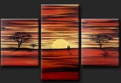 Cuadros Modernos Trípticos-dípticos Abstractos, Minimalistas ... Cavas Art, Triptych Art, Artistic Wallpaper, Spray Paint Art, Africa Art, Modern Artwork, Dream Art, Nature Paintings, Art Pictures