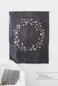 Create your very own custom DIY dip dyed wall hanging, inspired by Pony Riders banner pendants; this DIY tutorial shows you the steps to make your own.