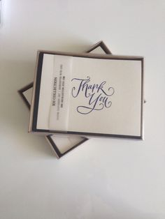 Thank You Set Card, hand stamped and embossed by RHCollection, $14.00