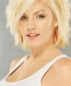 short choppy hair styles pictures for women by chrystal Medium Short Hair, Girl Short Hair, Short Hair Cuts, Medium Hair Styles, Short Hair Styles, Short Blonde, Medium Blonde, Long Face Hairstyles, Hairstyles For Round Faces