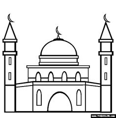 Mosque Coloring Page From Www Thecolor Com Coloring