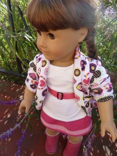 trendy slouch cardigan doll | ... includes a tshirt, skirt, belt and slouch cardigan. $24.00, via Etsy