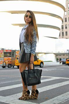 Mannollys Rack - Upper East Side  Chaqueta: H&M  Falda: Forever 21  Camisa: H&M Collar: Forever 21 Lentes: Urban Outfitters Zapatos: Zara Cartera: Céline