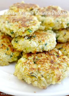Cheesy veggie quinoa patties, they sound so yummy!