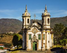Igreja São Francisco de Assis, this church was constructed in 1766. Ouro Preto is a colonial city in Minas Gerais State_ Brazil