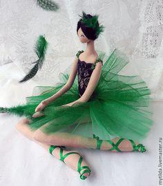 "Купить Балерина ""Изумруд"" - Ballerina in green - зеленый, изумрудно-зеленый, изумрудный цвет, балерина"