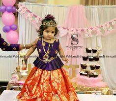 Baby Lehenga, Kids Lehenga Choli, Baby Dress Design, Baby Girl Dress Patterns, Baby Girl Fashion, Kids Fashion, Kids Ethnic Wear, Kids Blouse Designs, Baby Girl Items