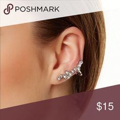 ✨Crystal✨ Ear Cuff Only A Few Available. Crystal Ear Cuff. Price is for one ear cuff. New in package. Jewelry Earrings