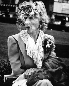 """photo of Lisette Model, Austrian-born American photographer, inspired her best known pupil Diane Arbus with a direct and uncompromising focus on her subjects.  Both of these women captured the noble dignity of the  disenfranchised, those on the fringes, """"freaks"""" as Arbus referred to them.  'Most people go through life dreading they'll have a traumatic experience. Freaks were born with their trauma. They've already passed their test. They're aristocrats.' - DA"""