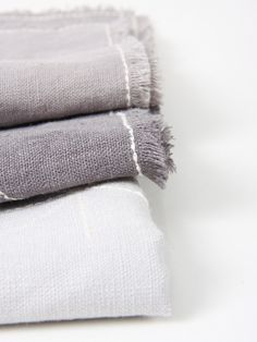 grey linen napkin with embroidery | maalikaacreations/Etsy