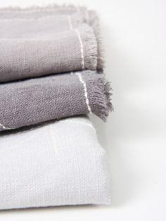 grey linen napkin with embroidery | maalikaacreations/Etsy