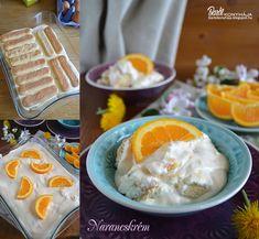 Barbi konyhája: Narancskrém - sütés nékül Tiramisu, Barbie, Sweets, Breakfast, Food, Drink, Morning Coffee, Beverage, Gummi Candy