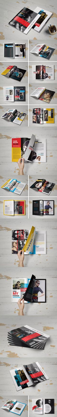 The Magazine Template InDesign INDD - US Letter Size