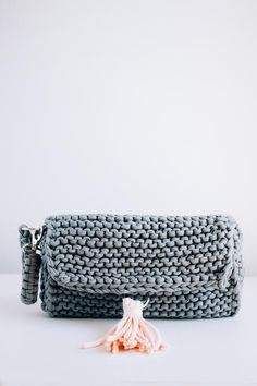 Perfect Knitted Clutch | This knit bag is better than any department store find.