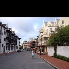 Rosemary Beach, Florida Town Center on the south side of 30A. Early in the morning...