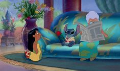 Be Unexpectedly Romantic - But not as unexpected as Stitch, in a Hawaiian shirt, holding a rose. That's a little too much.