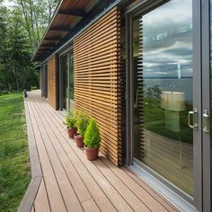 A Blu Home in Vashon Island, WA Exterior sliding shutters When old throughout strategy, the Timber Cladding, Exterior Cladding, Cladding Ideas, Timber Screens, Exterior Shutters, Window Screens, Minimalist House Design, Minimalist Home, Outdoor Shutters