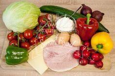 Die Zutaten für die Salattorte