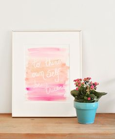 How to make watercolor quote prints by @centsationalgrl  -- love these!
