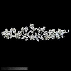 Celebrity Alloy with Flower Shaped Rhinestone Wedding Bridal Tiara : Tidebuy.com