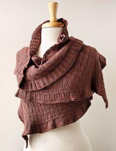 Winter Fashion Accessories - Handmade Rococo Knit Shawl /
